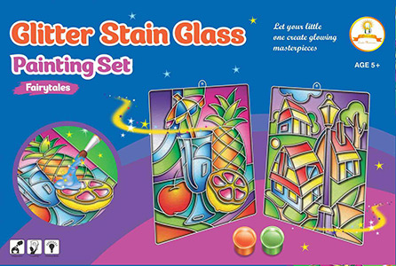 1111805-FAIRYTALE_GLITTER-STAIN-GLASS-PAINTING-SET-1